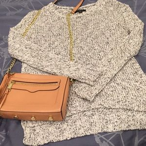Ann Taylor XSP sweater cream and blue